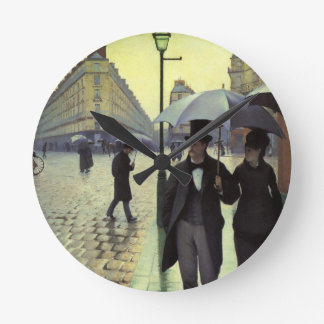 Calle de París día lluvioso de Gustave Relojes