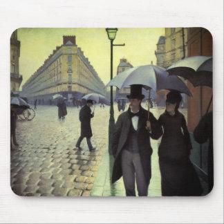 Calle de París día lluvioso de Gustave Tapetes De Ratón