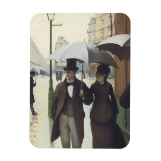 Calle de París, día lluvioso por Caillebotte Imanes Rectangulares