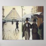 Calle de París, día lluvioso por Caillebotte Poster