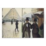 Calle de París, día lluvioso por Caillebotte Tarjeta De Felicitación