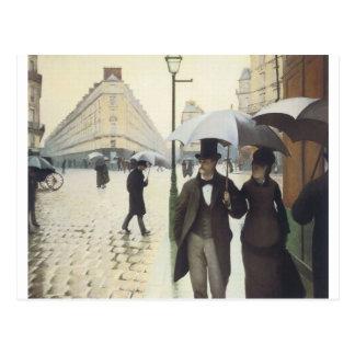 Calle de París, día lluvioso por Caillebotte Postales