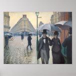 Calle de París; Día lluvioso Posters