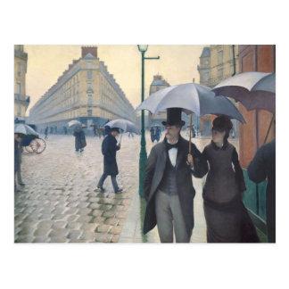 Calle de París; Día lluvioso Tarjetas Postales
