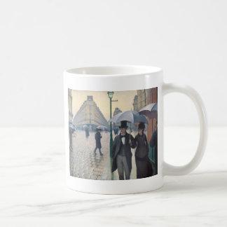 Calle de París; Día lluvioso Taza De Café