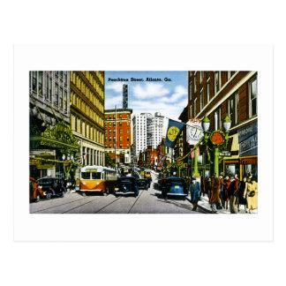Calle de Peachtree, Atlanta, GA Tarjeta Postal