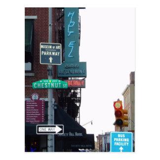 Calle de Philadelphia Tarjetas Postales