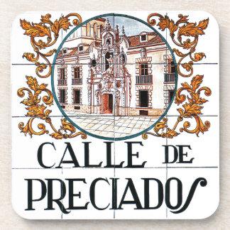 Calle de Preciados, Madrid Street Sign Beverage Coaster