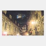 Calle de Quebec Rectangular Pegatina