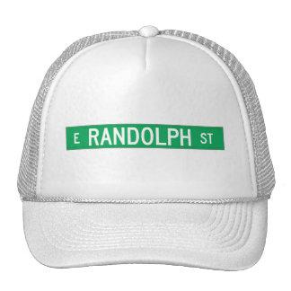 Calle de Randolph, placa de calle de Chicago, IL Gorro
