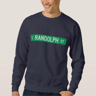 Calle de Randolph, placa de calle de Chicago, IL Sudaderas Encapuchadas