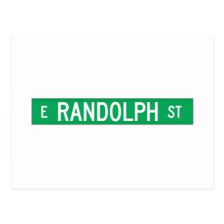 Calle de Randolph, placa de calle de Chicago, IL Postal