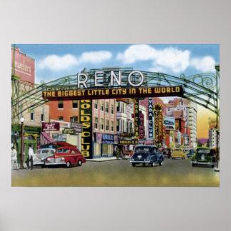 Calle de Reno Nevada Virginia Póster