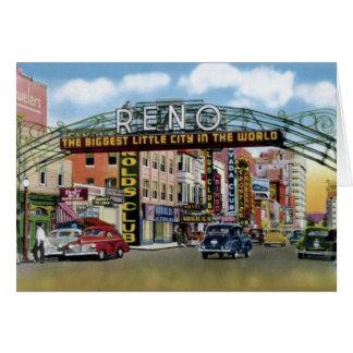 Calle de Reno Nevada Virginia Tarjeta De Felicitación