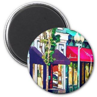 Calle de Roanoke VA con el restaurante Imán De Nevera