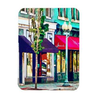 Calle de Roanoke VA con el restaurante Imán De Vinilo