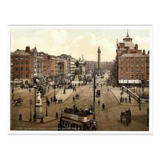 Calle de Sackville y puente de O'Connell. Dublín.  Tarjetas Postales