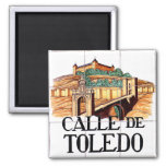 Calle de Toledo, Madrid Street Sign Fridge Magnet