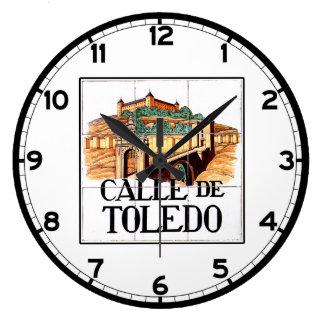 Calle de Toledo, Madrid Street Sign Large Clock