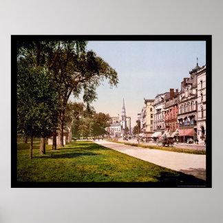 Calle de Tremont en Boston, mA 1900 Póster