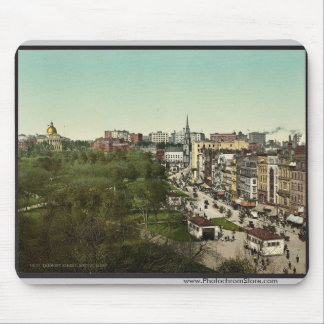 Calle de Tremont, obra clásica Photochrom de Massa Alfombrilla De Raton