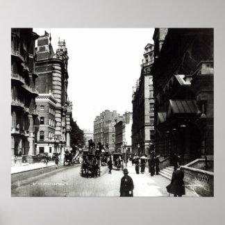 Calle de Victoria, Londres, c.1890 Póster