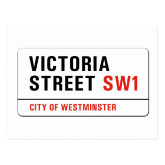 Calle de Victoria, placa de calle de Londres Postales