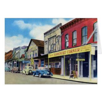 Calle de Virginia City Nevada C Tarjeta De Felicitación