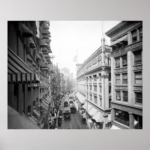 Calle de Washington, Boston, Massachusetts: 1906 Impresiones
