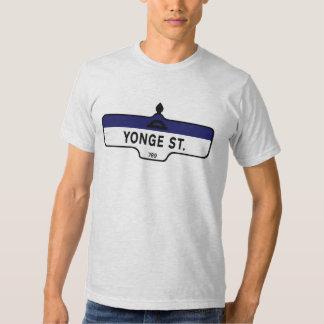 Calle de Yonge, placa de calle de Toronto Camisas