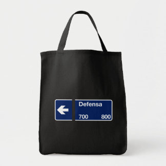 Calle Defensa, Buenos Aires Street Sign Tote Bags