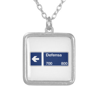 Calle Defensa Buenos Aires Street Sign Custom Necklace