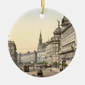 Calle del anillo, Budapest, Hungría Adorno Navideño Redondo De Cerámica