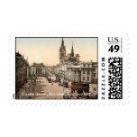 Calle del castillo, Aberdeen, Escocia 1905 Sello