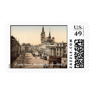 Calle del castillo, Aberdeen, Escocia 1905 Sello Postal