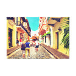 Calle Del Cristo Street San Juan Puerto Rico Gallery Wrap Canvas
