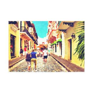 Calle Del Cristo Street San Juan Puerto Rico Impresión En Tela