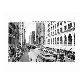 Calle del estado, Chicago, Illinois Tarjeta Postal