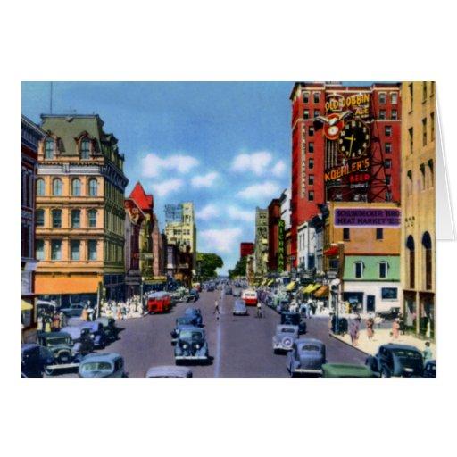 Calle del estado de Erie Pennsylvania Tarjeta De Felicitación