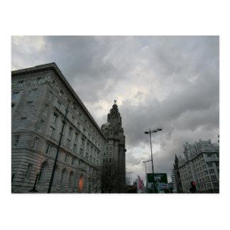Calle del filamento de Liverpool con el pájaro del Postales