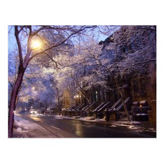 Calle del invierno postal
