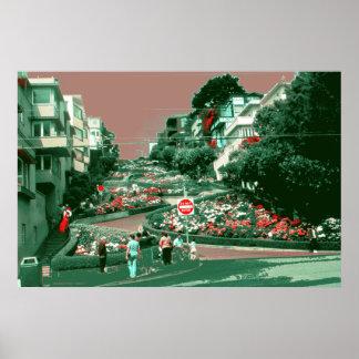 Calle del lombardo de San Francisco - impresión de Impresiones