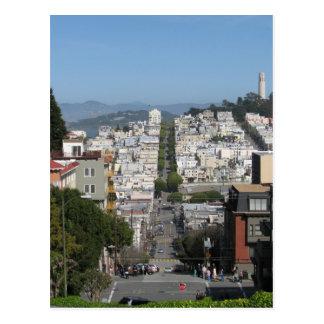 Calle del lombardo de San Francisco Postales