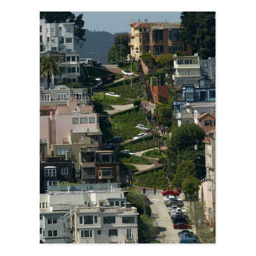 Calle del lombardo en San Francisco Américas Crook Postales
