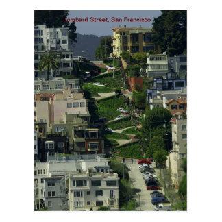 Calle del lombardo, San Francisco Tarjetas Postales