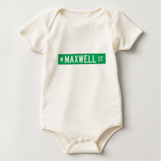 Calle del maxwell, placa de calle de Chicago, IL Body Para Bebé