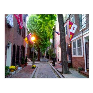 Calle del membrillo, postal de Philadelphia