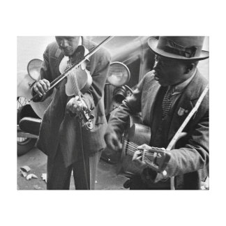 Calle del oeste Musicians 1935 de Memphis Impresión De Lienzo