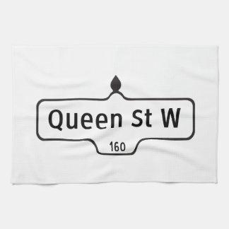 Calle del oeste, placa de calle de la reina de Tor Toalla De Mano