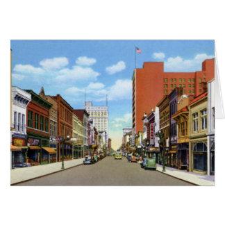 Calle del olmo de Greensboro Carolina del Norte Tarjeta De Felicitación